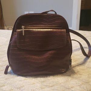 Liz Claiborne Leather-like back pack